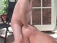 Group outdoor bareback fuck